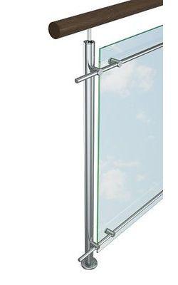 Перила со стеклом (исполнение 2)