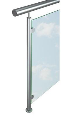 Перила со стеклом (исполнение 4)